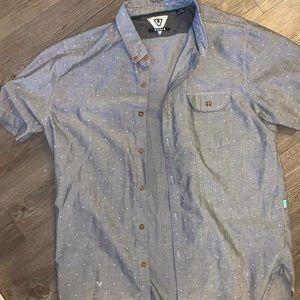 Grey Short Sleeve Buttondown
